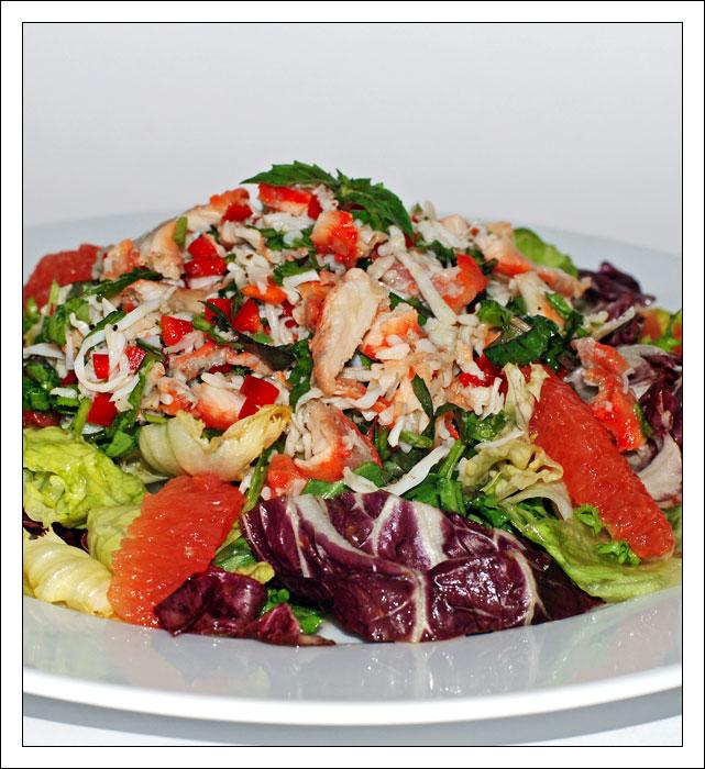морепродукты с листьями салата рецепты